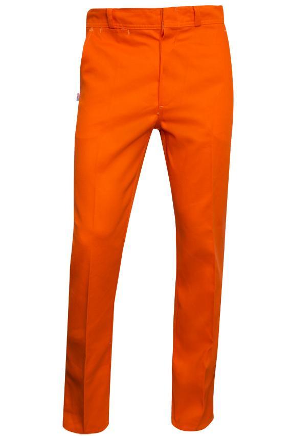 Pantalon De Gabardina 8 Oz Color Naranja T 38 Ram