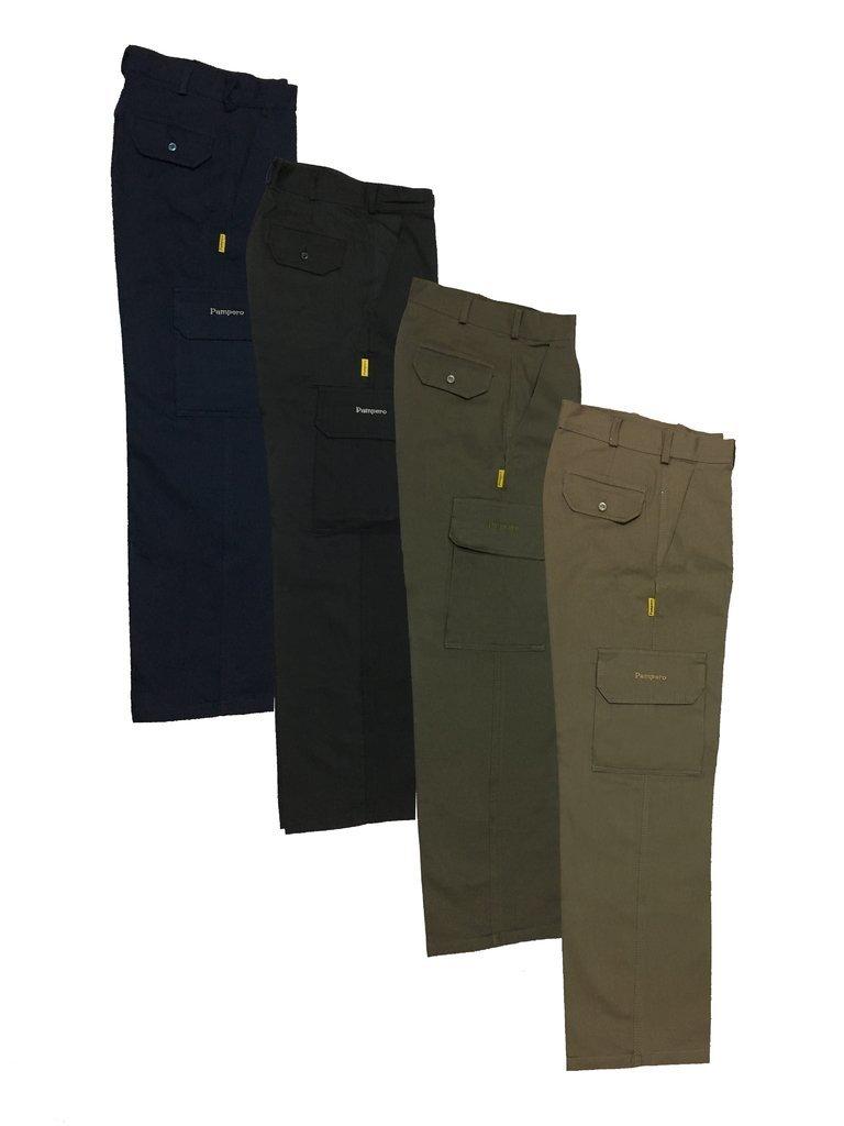 Pantalon De Gabardina 8 Oz Color Azul Marino Tipo Cargo Para Dama T 34 Al 48 Marca Pampero Pampero