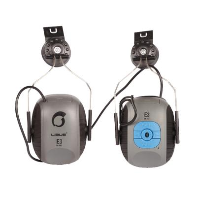 Protector Auditivo Tipo Copa En Vincha Para Casco - Mod. E1 -  Electronico  - ConexiÓn A Bluetooth + Auxiliar - Incluye Cargador De Bateria. Nrr 27 Db - Marca L