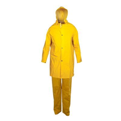 Traje De Pvc - Para Lluvia - Mod. Clasico - Color Amarillo - Espesor  0,45 Mm - Marca Work Safe. Talle L