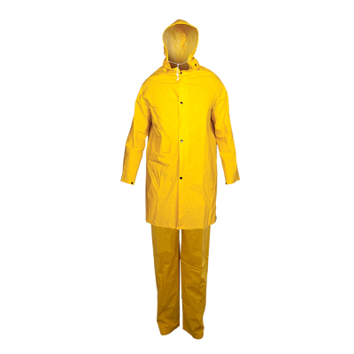Traje De Pvc - Para Lluvia - Mod. Clasico - Color Amarillo - Espesor  0,45 Mm - Marca Work Safe. Talles 2xl