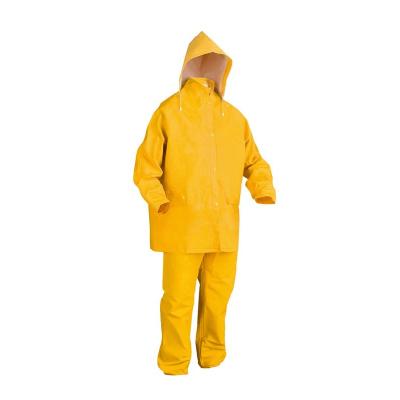 Traje De Pvc - Para Lluvia - Mod. Pijama - Color Amarillo - Talle S