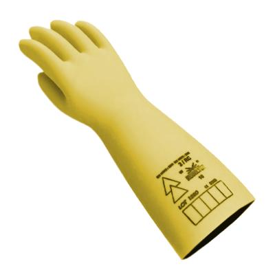 Guantes DielÉctricos Electrovolt - Mod. Ge363 - Clase 3 - Tension De Uso - 26.500v - Largo 41 Cm - Monocapa/latex - Marca Regeltex.
