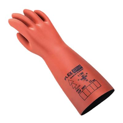 Guantes DielÉctricos Flex & Grip - Mod. Gicn4 - Clase 4 - Tension De Uso - 36.000v - Largo 41 Cm - Bicapa/composite - Marca Regeltex.
