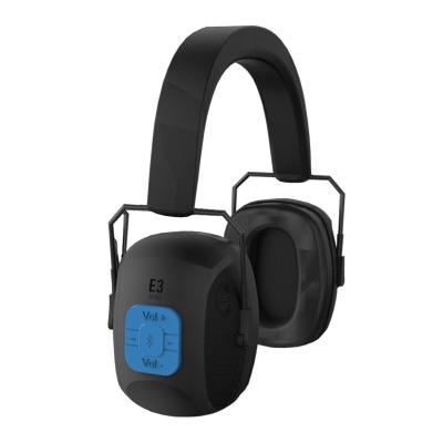 Protector Auditivo Tipo Copa En Vincha - Mod. E1 -  Electronico  - ConexiÓn A Bluetooth + Auxiliar - Incluye Cargador De Bateria. Nrr 27 Db -