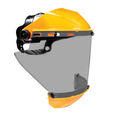Protector Facial Cilindrico Con Cubre Menton  - Visor Gris Hc.