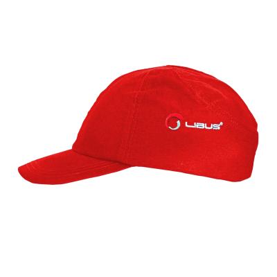 Gorra C/ Casquete PlÁstico De Proteccion - Color Rojo