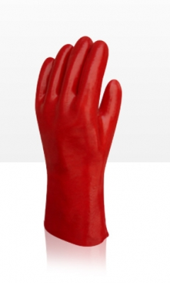 Guante Pvc Rojo Industrial,  Liviano - Largo 35 Cm. – T/10
