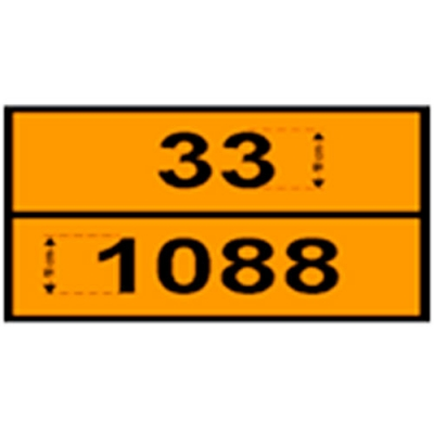 Cartel Rectangular Naranja Panal De Abeja- Riesgo De Transporte   Varios Modelos - Medida: 35 X 22 Cm.