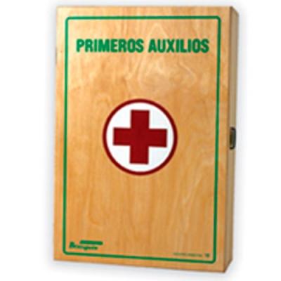 Botiquin De Madera Laqueada Primeros Auxilio N° 12 . (27 Unidades).