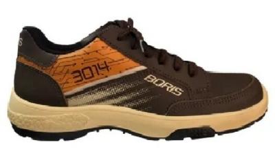 Zapato Prusiano Acolchado - Cuero Flor - Color Marron - Suela Pu Bidensidad - Art. 3016 - Talles 36 Al 47 - Marca Boris.
