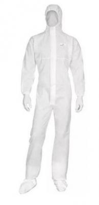 Mameluco Descartable -- Color Blanco - Respirable Y Microporoso. 60gr. Con Cierre - Capucha - Botamangas - MuÑecas Elastizada. - Marca Ws. - Talle L.