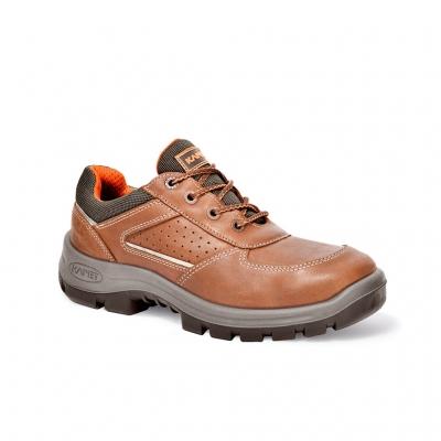 Zapato Prusiano. Cuero Flor Hidrofugado/ Textil – Puntera Composite – Suela Poliuretano Bidensidad. Dielectrico - Color Marron T/36