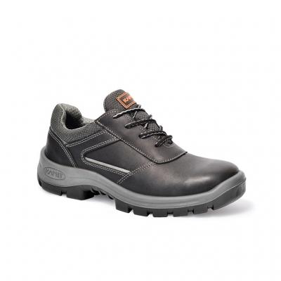Zapato Prusiano. Cuero Flor Hidrofugado/ Textil – Puntera Composite – Suela Poliuretano Bidensidad. Dielectrico Color Negro T/36 Al 47