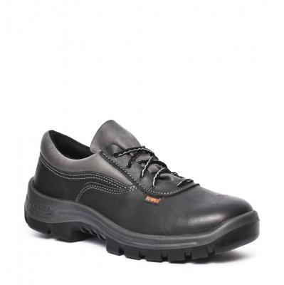 Zapato Frances - Cuero Flor - Puntera De Acero - Color Negro - Suela Poliuretano Bidensidad. Dielectrico - Art. 21000 -  T/35.