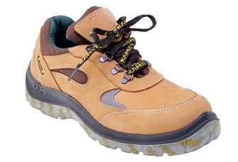 Zapato Frances – Puntera De Acero - Cuero Nobuck Amarillo – Suela Leon   Traslucidad Bidensidad - Color Amarillo - . T/35 Al 48