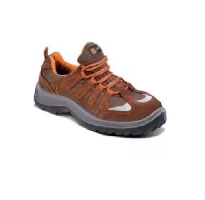 Zapato Frances – Puntera De Acero – Cuero Gamuzado Textil – Suela Pu  Bidensidad -  Color Marron -  T/35 Al 48