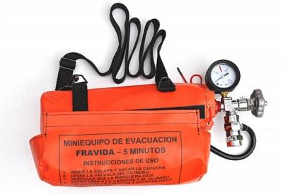 Mini Equipo De Escape - Cilindro De Aluminio - Autonomia 10 Minutos Art. 7242 -