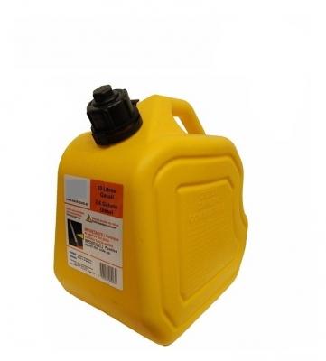 Bidon Plastico Para Almacen Y Transporte De Gas Oil - Con Pico Vertedor - Color Amarillo - Capacidad 20 Lt. - Marca Cd.