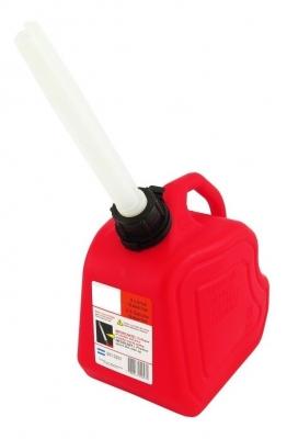 Bidon Plastico Para Almacen Y Transporte De Nafta - Con Pico Vertedor - Color Rojo - Capacidad 5 Lt. - Marca Cd