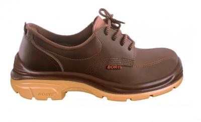 Zapato Prusiano Acolchado - Cuero Flor - Color Marron - Suela Pu Bidensidad - Art. 3161x - Talles 36 Al 47 -  Marca Boris.