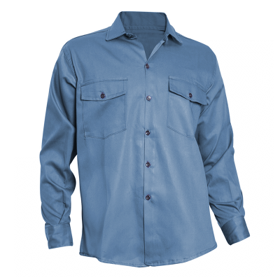 Camisa De Gabardina - 8 Oz. Color Azul Marino - T/38