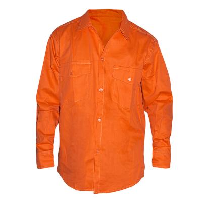 Camisa De Gabardina - 8 Oz. Color Naranja - T/38