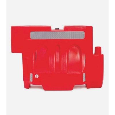 Canalizador  De Pvc  - Color Blanco O Rojo - 80 Cm Altura X 120 Cm Largo -  Peso 15 Kg. - Con Reflectivo - Recargable