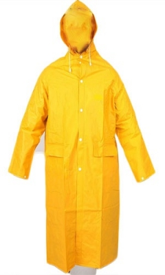 Capa De Pvc - Para Lluvia - Mod. Clasico - Color Amarillo - Espesor  0,45 Mm - Talle L