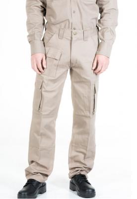 Pantalon De Gabardina - 8 Oz. Color Beige - Tipo Cargo  - T/40 Al 60 - Marca Pampero.