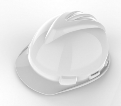 Casco De Seguridad - Modelo Spc-221 - Compuesto De Polietileno Inyectado Con Sistema De Suspension De 4 Puntas - Color Blanco - Marca Steelpro