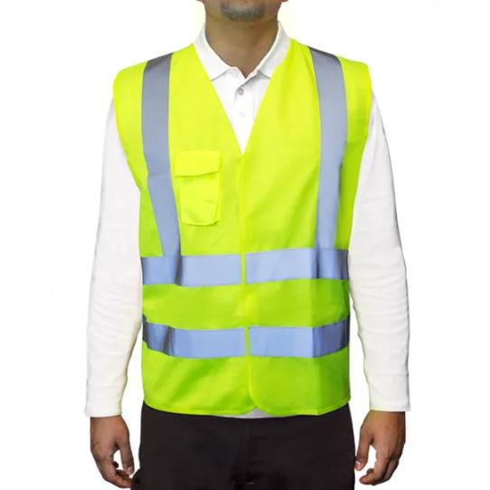 Chaleco Poliester - Color Amarillo - Con Velcro – Talle Unico. Origen: Importado