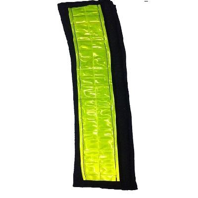 Cubre Cinturon De Seguridad Reflectivo - Amarillo  O Naranja Cierre Con Velcro. 24 Cm X 6 Cm.