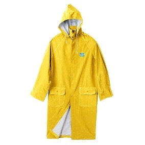 Capa De Pvc - Para Lluvia - Mod. Clasico - Color Amarillo - Espesor  0,45 Mm - Marca Work Safe. Talle M