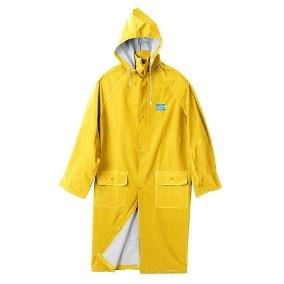 Capa De Pvc - Para Lluvia - Mod. Clasico - Color Amarillo - Espesor  0,45 Mm - Marca Work Safe. Talle L