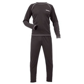 Conjunto Termico Cooldry – 1° Piel. - Poliester 100%  - Color Negro  Marca Hard Work. Talle 2xl