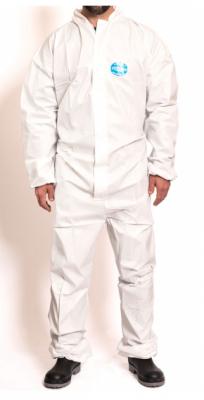 Mameluco Descartable -- Color Blanco - Respirable Y Microporoso. Con Cierre - Capucha - Botamangas - MuÑecas Elastizada.- Talle M.