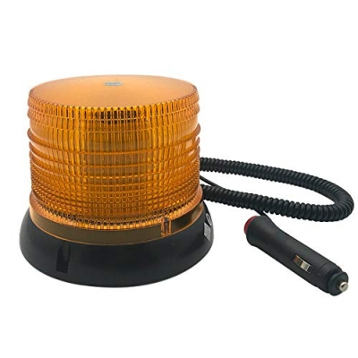 Baliza Con Luz Estroboscopica Flash A Led - Con Iman + Entrufe - Color - Ambar - 12 Volt - Art. Cd 469-12 Ar - Marca Cd.