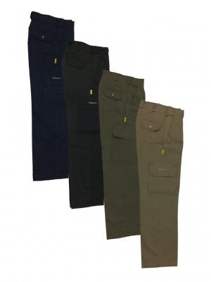 Pantalon De Gabardina - 8 Oz. Color Azul Marino - Tipo Cargo - Para Dama - T/34 - Marca Pampero.