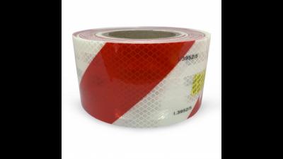 Cinta Reflectiva Color Cebrado  (roja Y Blanca) - 75 Mm Ancho X Rollo De  20 Mt - Marca Prismalite. Grado Diamante.