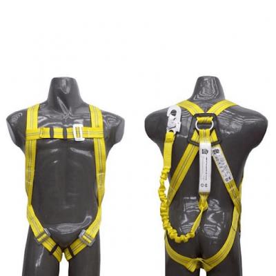 Arnes Anticaidas Con Cinturon Liniero Con Elemento De Amarre Anticaidas Elastizado De 1,5 M De Longitud Y Mosqueton Forjado De 18 Mm. - Toma Frontal - Sky10412