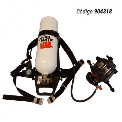 Equipo Autonomo Scba Spiromatic 90 Usa - Air Hatch - Cilindro De Aluminio Bag 30 Minutos De Autonomia - Marca Interspiro (libus) - Cod. 904318.