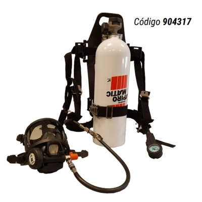 Equipo Autonomo Scba Spiromatic 90 Usa - Air Line - Cilindro De Aluminio Cs 30 Minutos De Autonomia - Marca Interspiro (libus) - Cod. 904317.