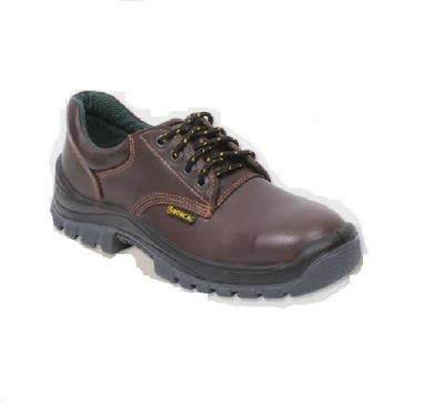 Zapato De Seguridad Tipo Frances - P/acero  - Suela Poliuretano Bidensidad  Cuero Flor - Color Marron - Mod. 9222f - Marca Borcal - T/37 Al 47