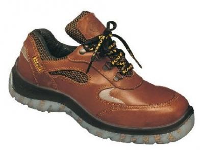 Zapato Frances – Puntera De Acero - Cuero Flor Waterproof – Suela Leon   Traslucidad Bidensidad - Color Marron - T/35.