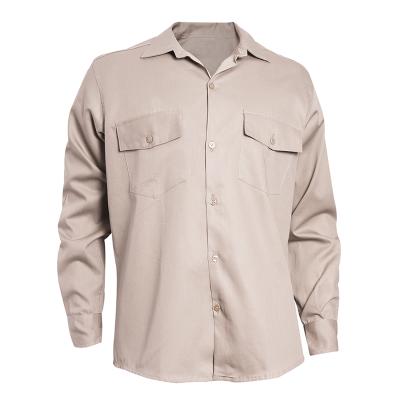 Camisa De Gabardina - 8 Oz. Color Beige - T/38