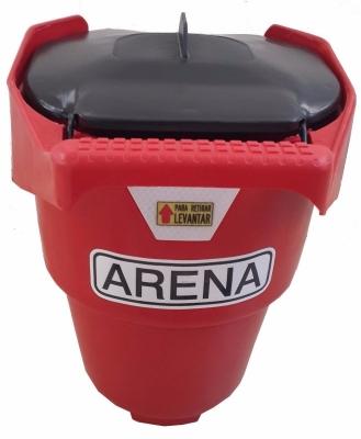 Balde Para Arena Plastico - Con Tapa - Manija Fija - Color Rojo - Con Reflectivo Y Calco. Art. 09806 -