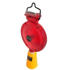 Baliza Intermitente A Led Potente Con Panel Solar Recargable Para Conos Color Amarillo - Art. Cd 7360-y - Marca Cd.