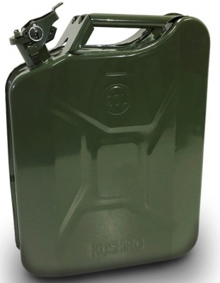 Bidon Metalico Para Almacen Y Transporte De Combustible -  Capacidad 25 Lt. Con Pico Vertedor - Marca Cd.