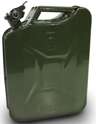 Bidon Metalico Para Almacen Y Transporte De Combustible -  Capacidad 10 Lt. Con Pico Vertedor - Marca Cd.